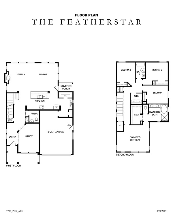 The Featherstar Floor Plan No Options
