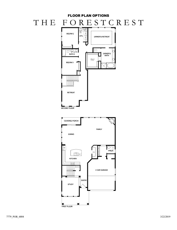 The Forestcrest Floor Plan Options