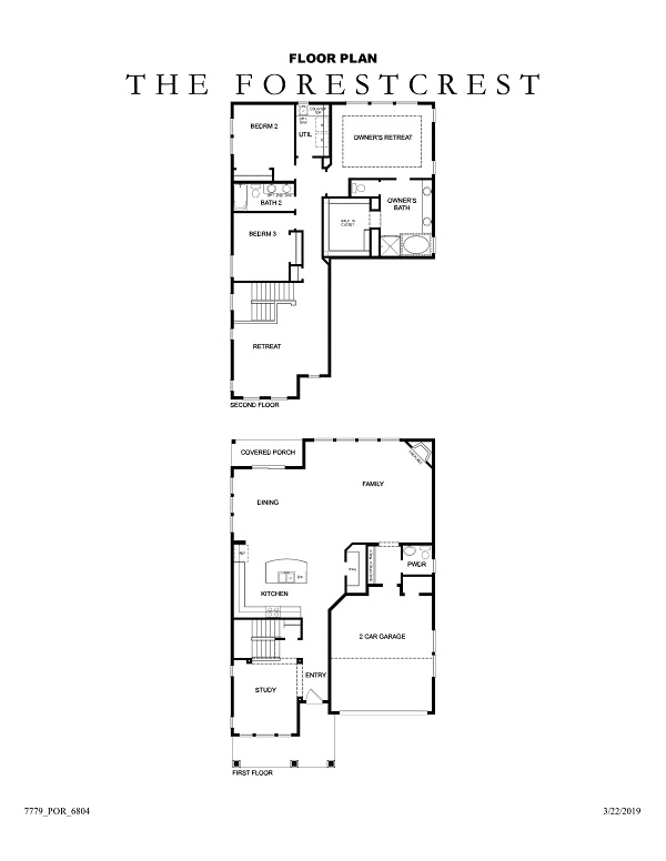 The Forestcrest Floor Plan No Options