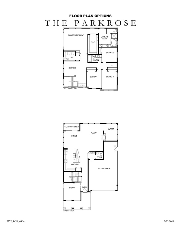 The Parkrose Floor Plan Options