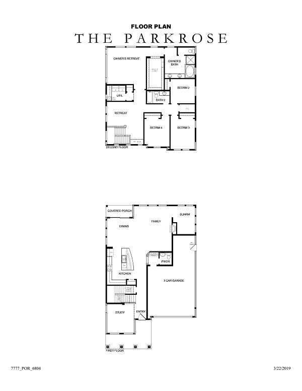 The Parkrose Floor Plan No Options