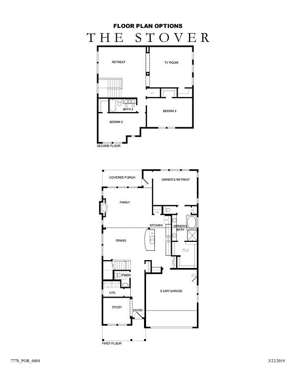 The Stover Floor Plan Options