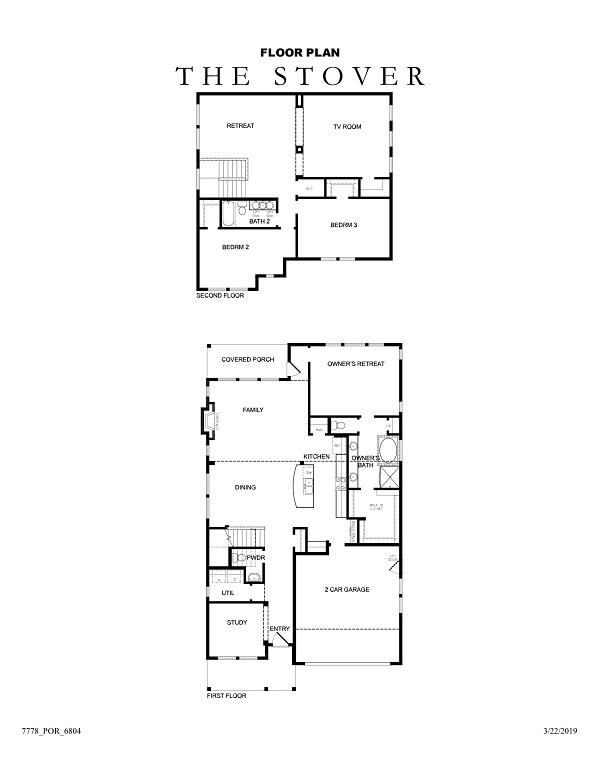 The Stover Floor Plan No Options