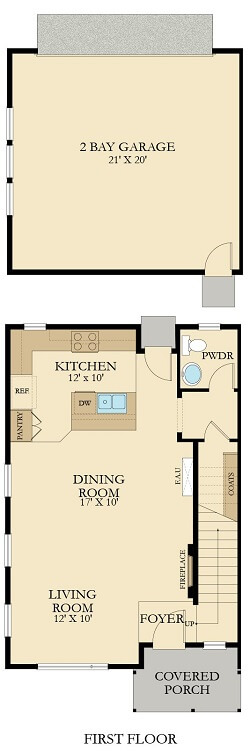 The Broadmoor Floor Plan-First Floor