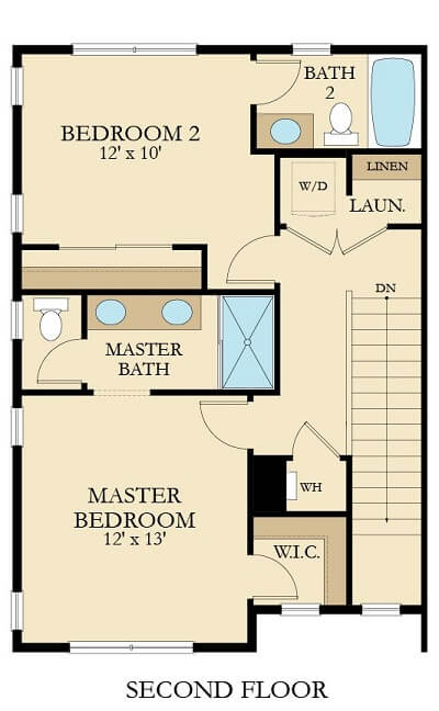 The Broadmoor Floor Plan-Second Floor